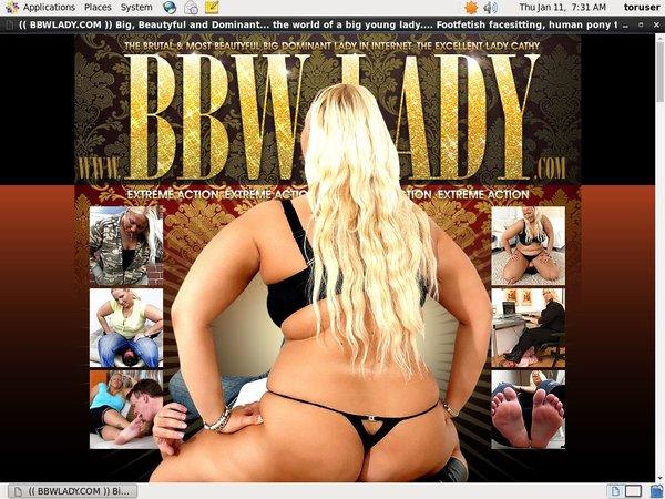 BBW Lady Log In