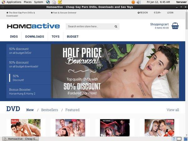 Homoactive Create Account