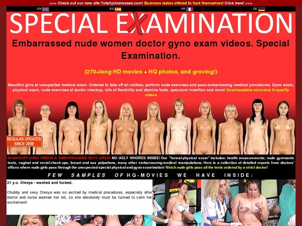 Special Examination Discount On