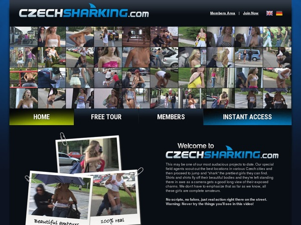 Czechsharking.com Trial Option