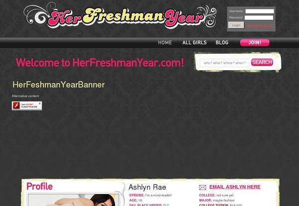 Her Freshman Year Trial Sign Up