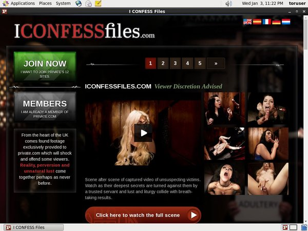 Iconfessfiles Trial Membership