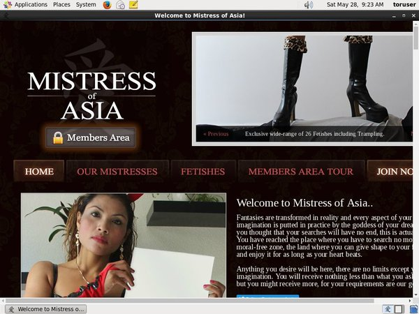 Account Mistress Of Asia