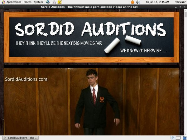 Discount Sordid Auditions Free Trial