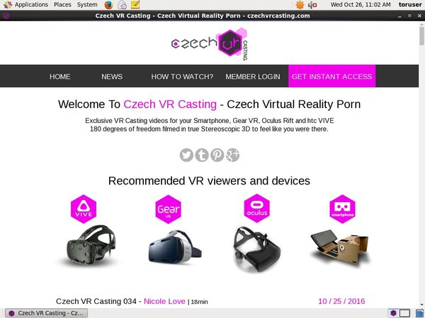 Czechvrcasting.com Home Page