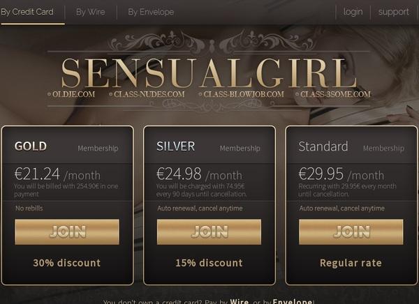 Sensual Girl Pricing