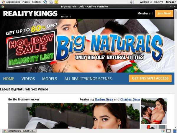 Membership To Bignaturals.com