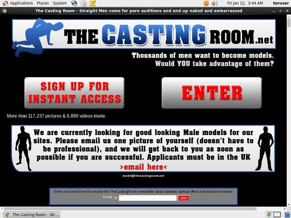 Thecastingroom.net Bank Payment
