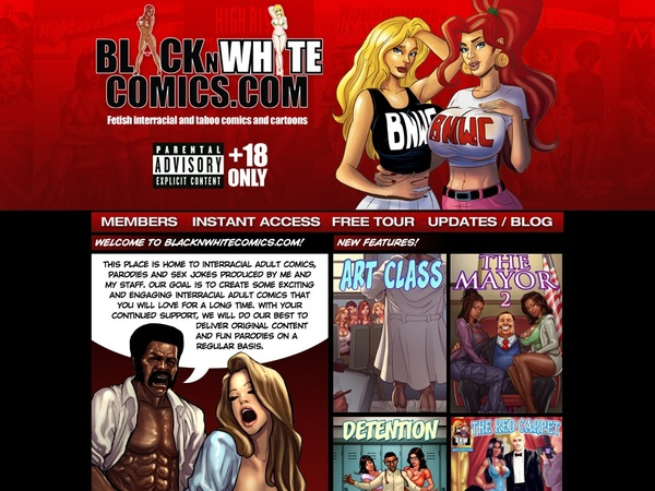 Black N White Comics Discount Join