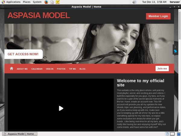 Trial Membership For Aspasia Model