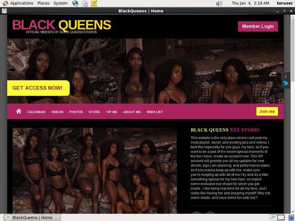 Black Queens XXX Discount Username