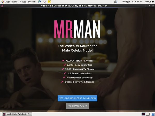 Mr Man Trial Membership Free
